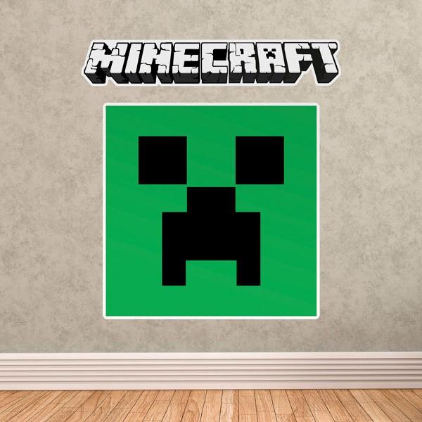 Vinilos Decorativos: Minecraft logo