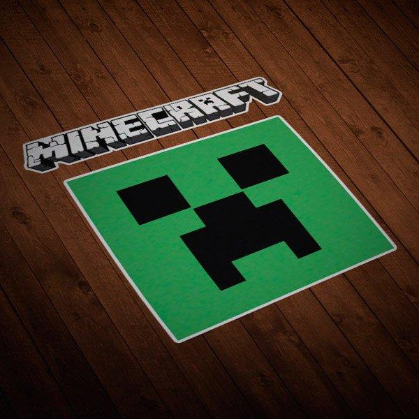 Vinilos Decorativos: Sticker Minecraft letras y logo