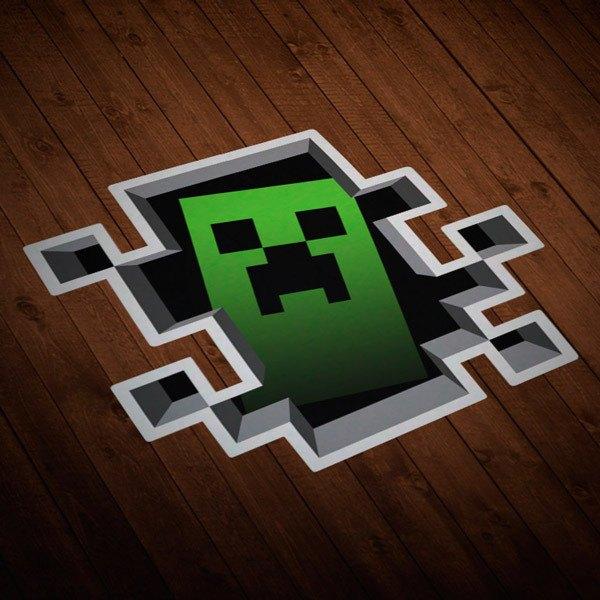 Vinilos Decorativos: Sticker Minecraft Crepper