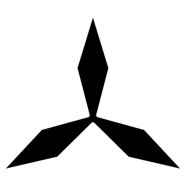 Pegatinas: Mitsubishi logo 3