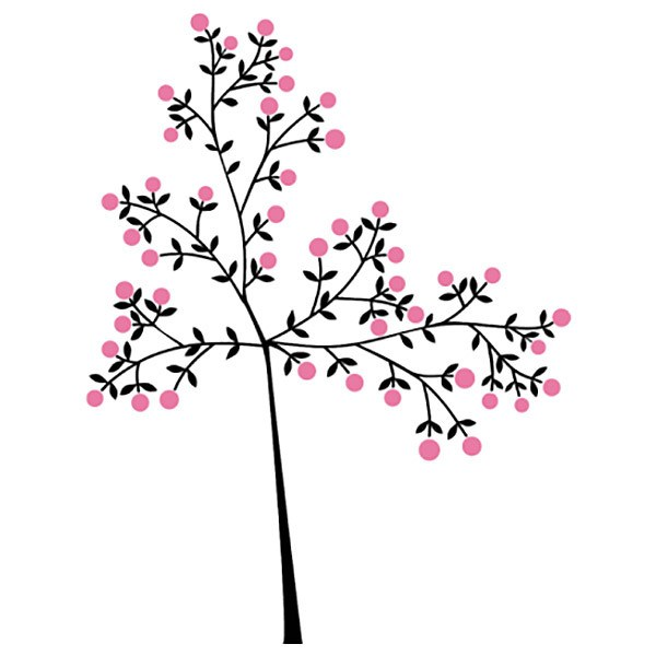 Vinilos Decorativos: Rama de árbol y sus frutos