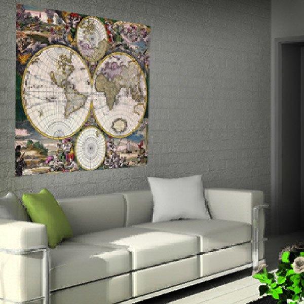 Vinilos Decorativos: Mapamundi antiguo