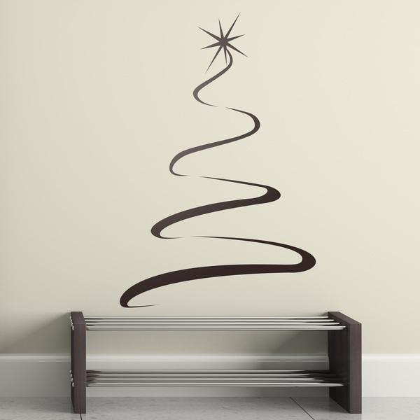 Arbol luz for Vinilos decorativos navidad