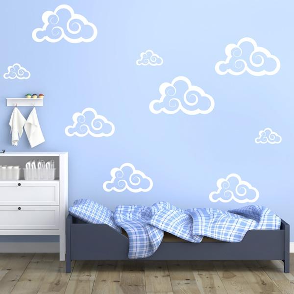 Vinilos Decorativos: Kit 9 Nubes