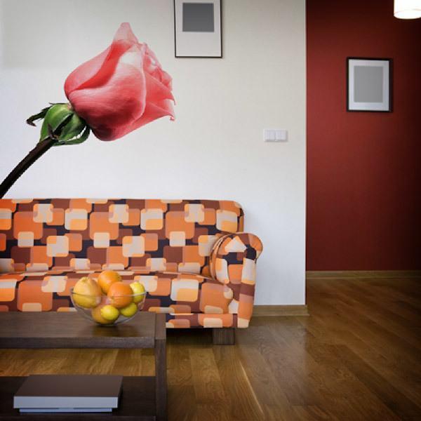 Vinilos Decorativos: Rosa en primavera