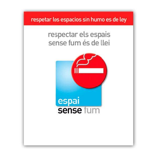 Pegatinas: Sin Humo 3 (Catalán)