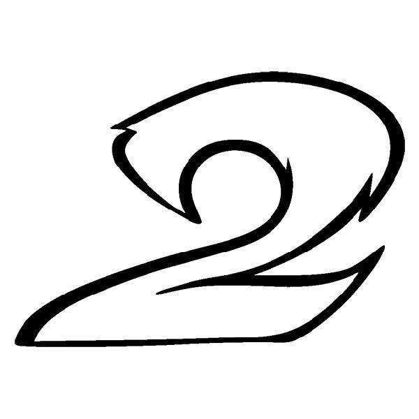 Pegatinas: Número 2