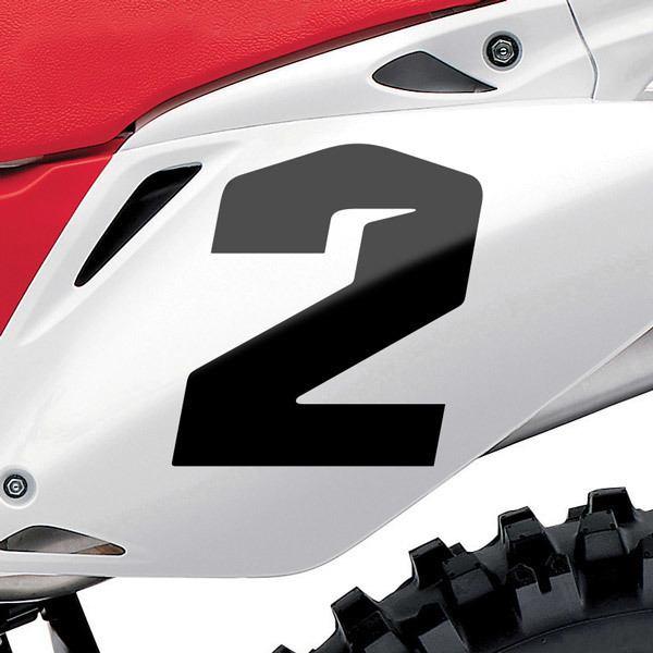 Pegatinas: Número 2 Speed