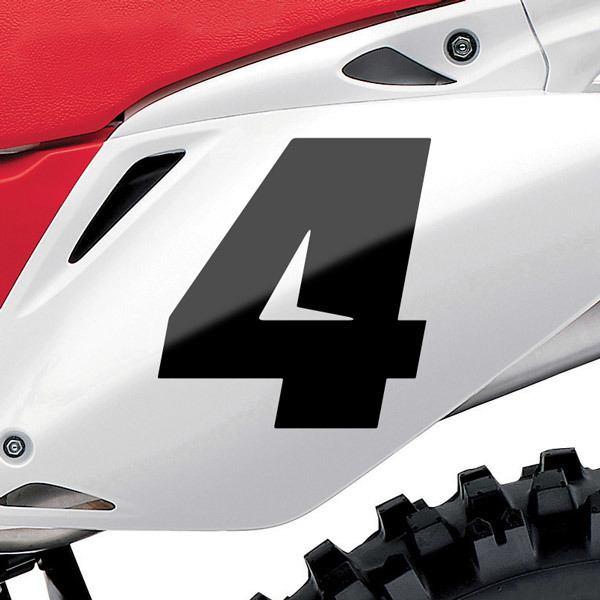 Pegatinas: Número 4 Speed