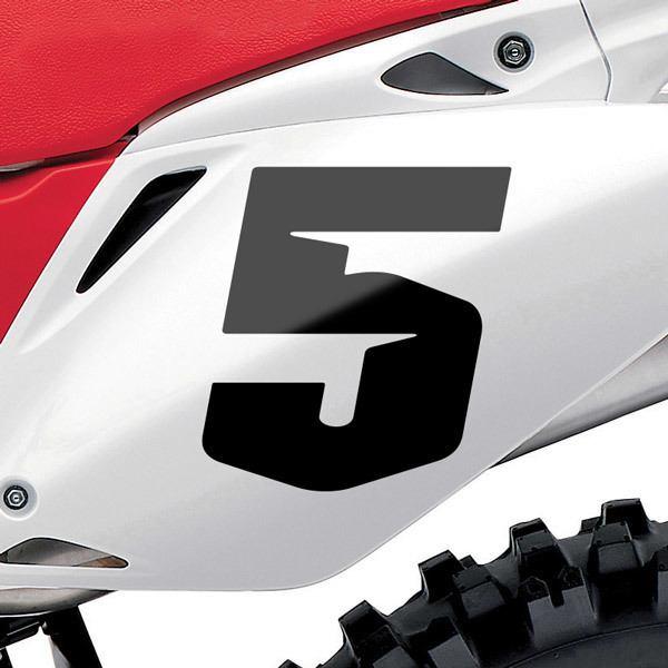 Pegatinas: Número 5 Speed