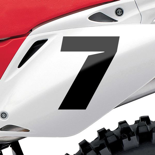 Pegatinas: Número 7 Speed