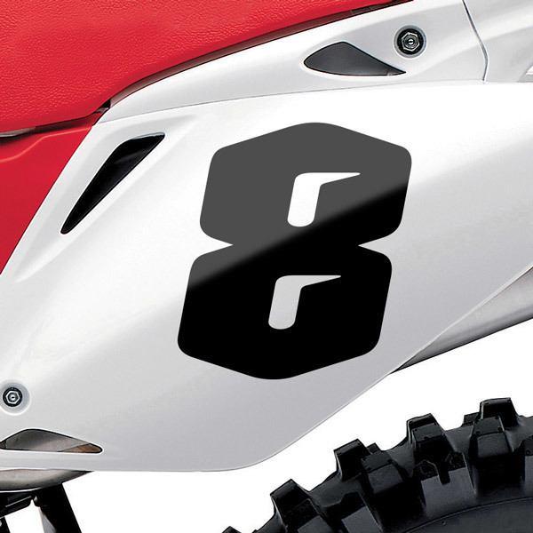 Pegatinas: Número 8 Speed