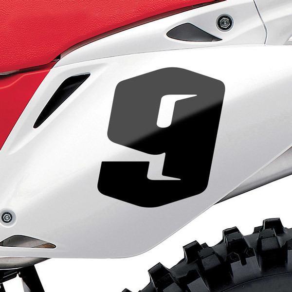 Pegatinas: Número 9 Speed