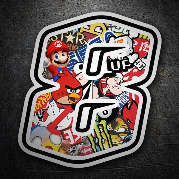 Pegatinas: Número 8 Speed Stickerbomb