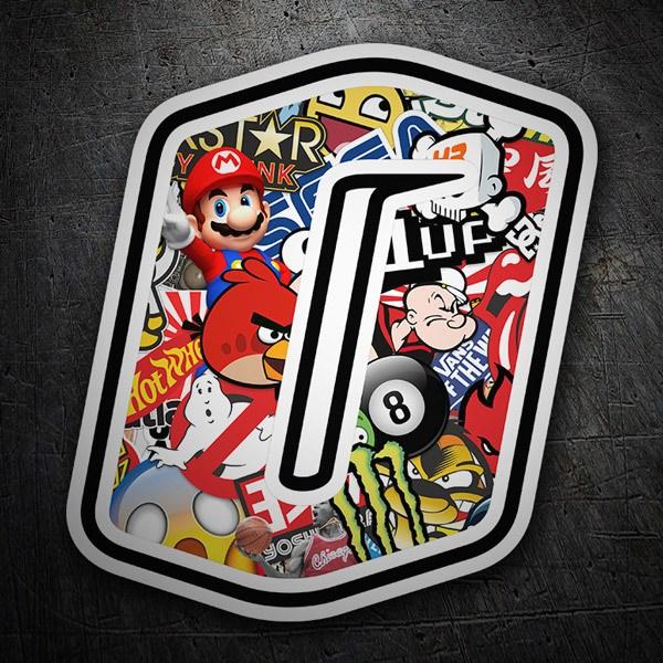 Pegatinas: Número 0 Speed Stickerbomb