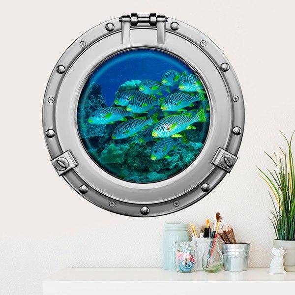 Vinilos Decorativos: Banco de peces 1