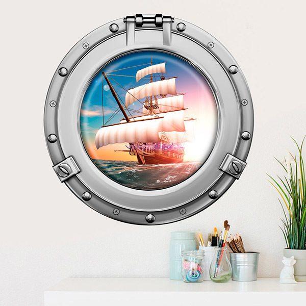 Vinilos Decorativos: Barco Velero Pirata