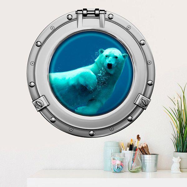 Vinilos Decorativos: Oso polar nadando