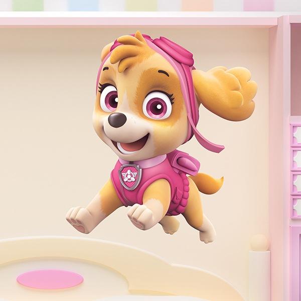 Vinilos Infantiles: Patrulla Canina - Skye en acción