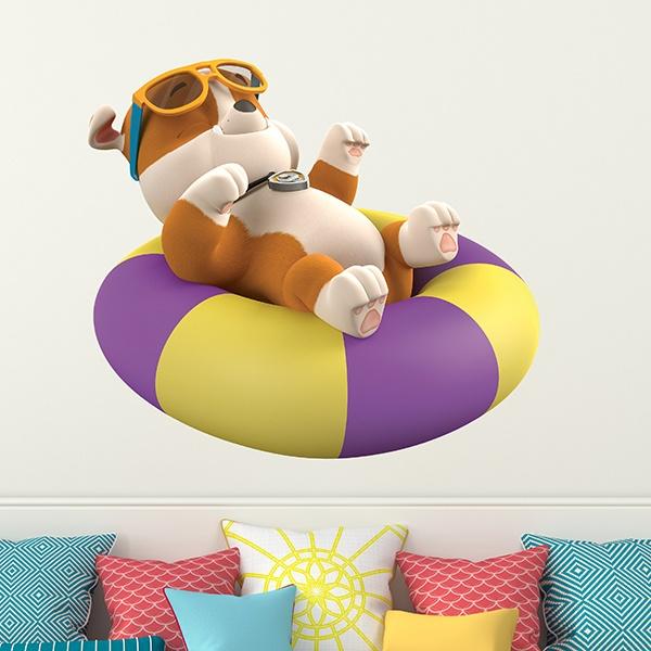 Vinilos Infantiles: Patrulla Canina - Rubble con flotador