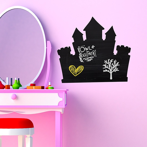 Vinilos Infantiles: Pizarra Castillo de Princesas