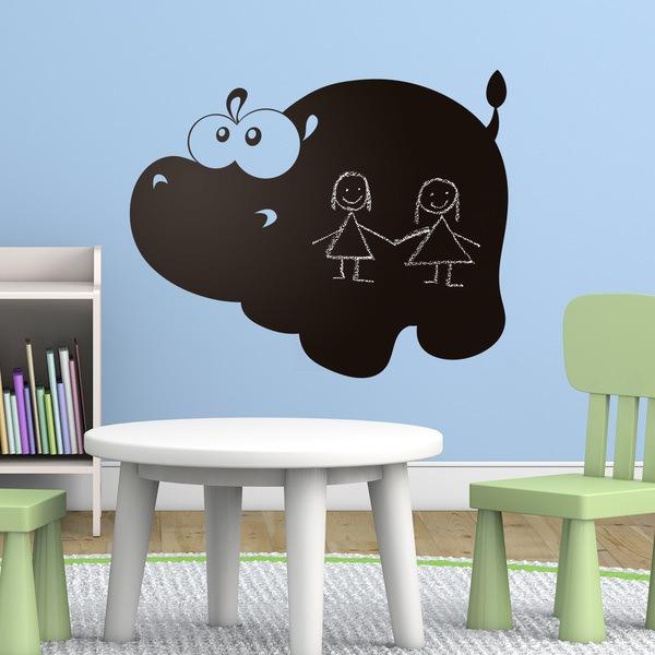Vinilos Infantiles: Pizarra Hipopótamo