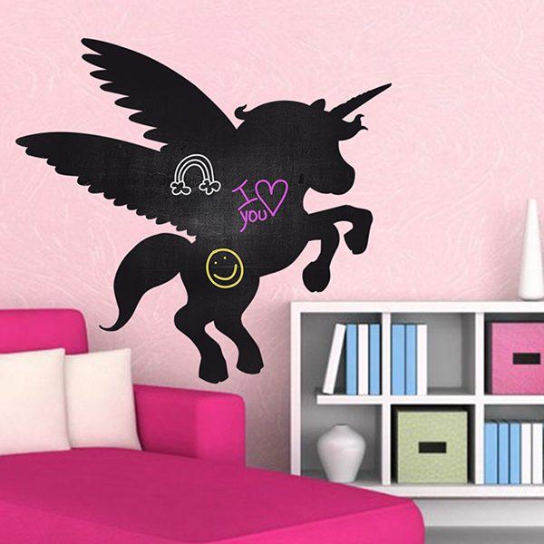 Pizarra con la silueta de un unicornio for Vinilo de pizarra