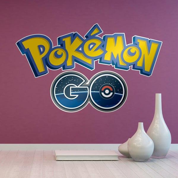Vinilos Decorativos: Pokémon GO logo 2016