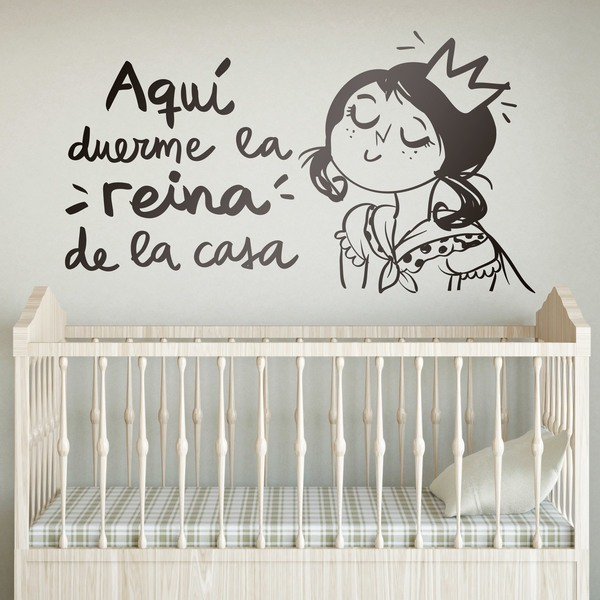 Vinilos Infantiles: Aquí duerme la reina de la casa