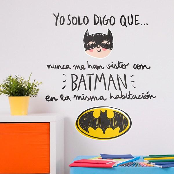 Vinilos Infantiles: Nunca me han visto con Batman