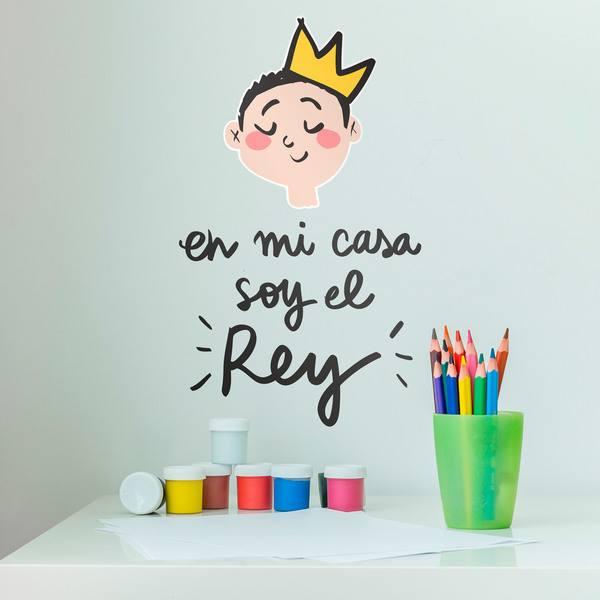 Vinilos Infantiles: En mi casa soy el Rey