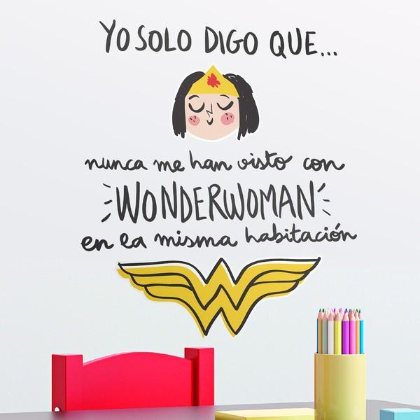 Vinilos Infantiles: Nunca me han visto con Wonderwoman