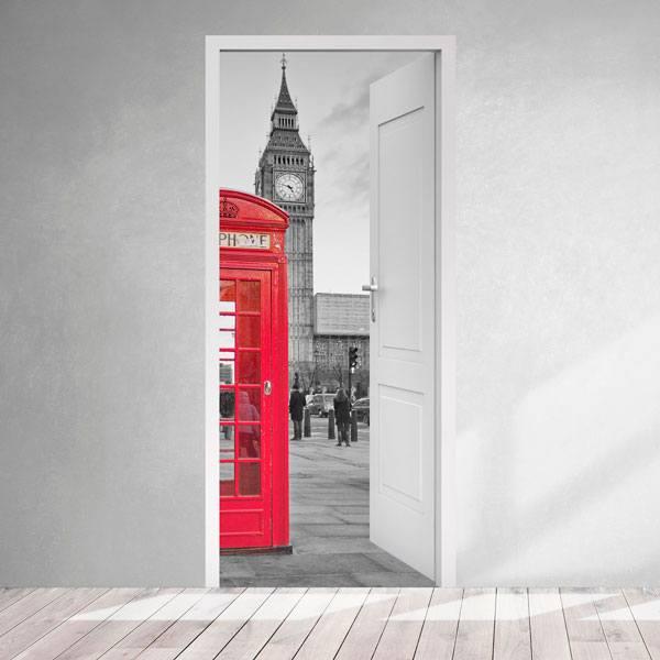 Vinilos Decorativos: Puerta abierta cabina Londres