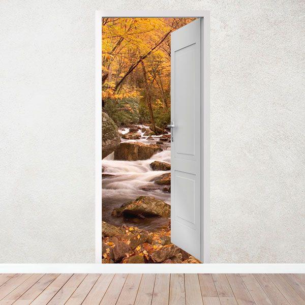 Vinilos Decorativos: Puerta abierta manantial y bosque