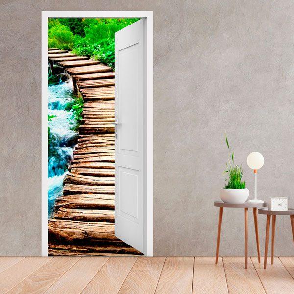 Vinilos decorativos para puertas teleadhesivo - Vinilos para puertas de madera ...