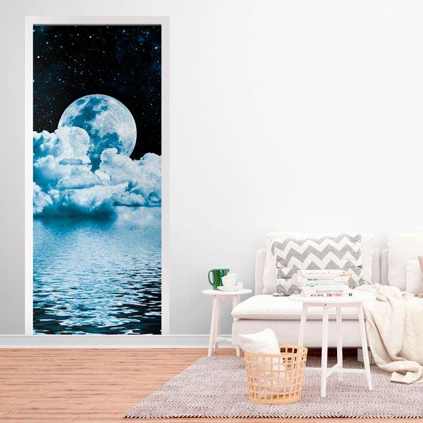 Vinilos Decorativos: Puerta luna sobre el mar