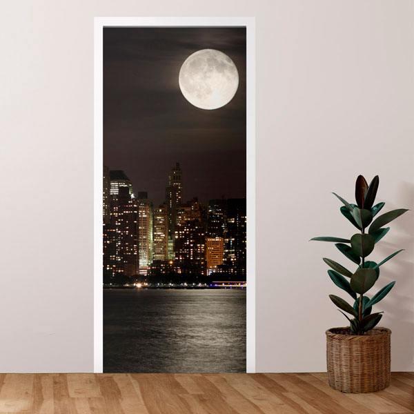 Vinilos Decorativos: Puerta luna en Manhattan