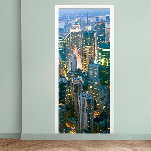 Vinilos Decorativos: Puerta rascacielos en Nueva York