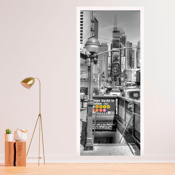 Vinilos Decorativos: Puerta entrada metro NYC