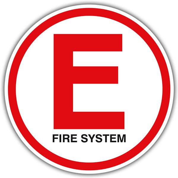 Pegatinas: E Fire System