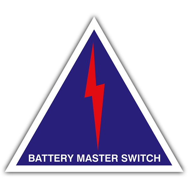 Pegatinas: Battery master switch