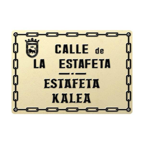 Vinilos Decorativos: Placa Calle de la Estafeta