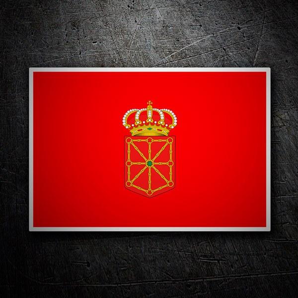 Pegatinas: Bandera de Navarra