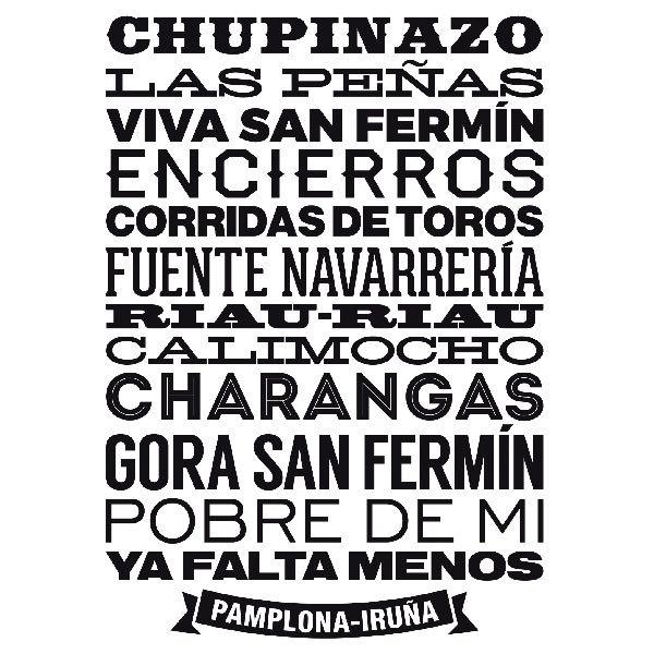 Vinilos Decorativos: Pamplona-Iruña