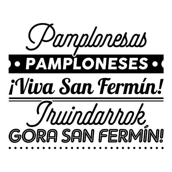 Vinilos Decorativos: Chupinazo San Fermín