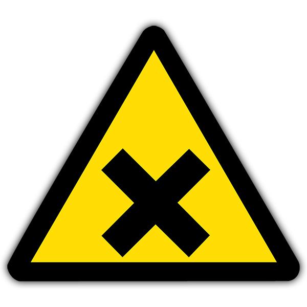 Pegatinas: Señal de peligro