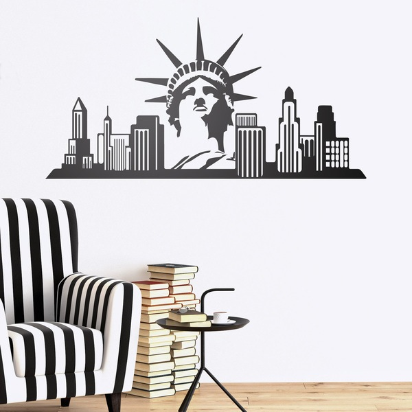 vinilo decorativo new york skyline