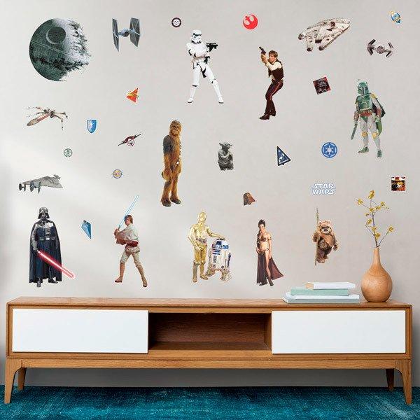 Vinilos Decorativos: Personajes Clásicos Star Wars