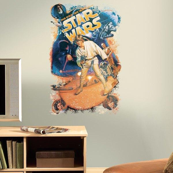 Vinilos Decorativos: Star Wars Retro Luke Skywalker