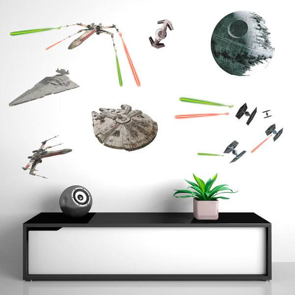 Vinilos Decorativos: Star Wars Naves Clásicas